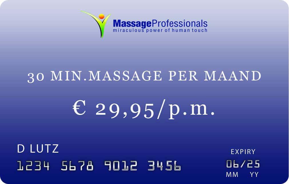 #0 min massage abonnement in Almelo