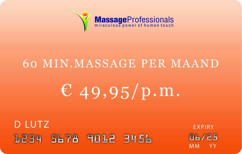 ^) minuten massage abonnement in Almelo
