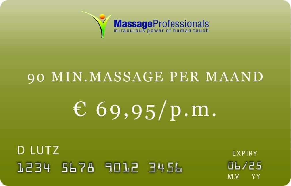 (0 minuten massage abonnement in Almelo